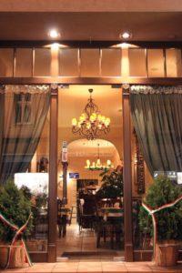 Witryna drewniana - restauracja