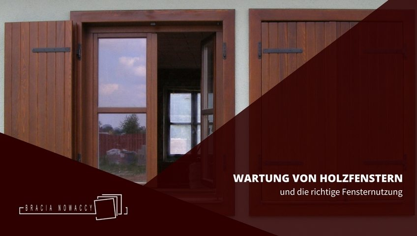 Wartung Holzfenster - Cover